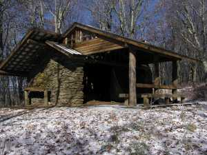 Spence Field shelter - Great Smoky Mountains