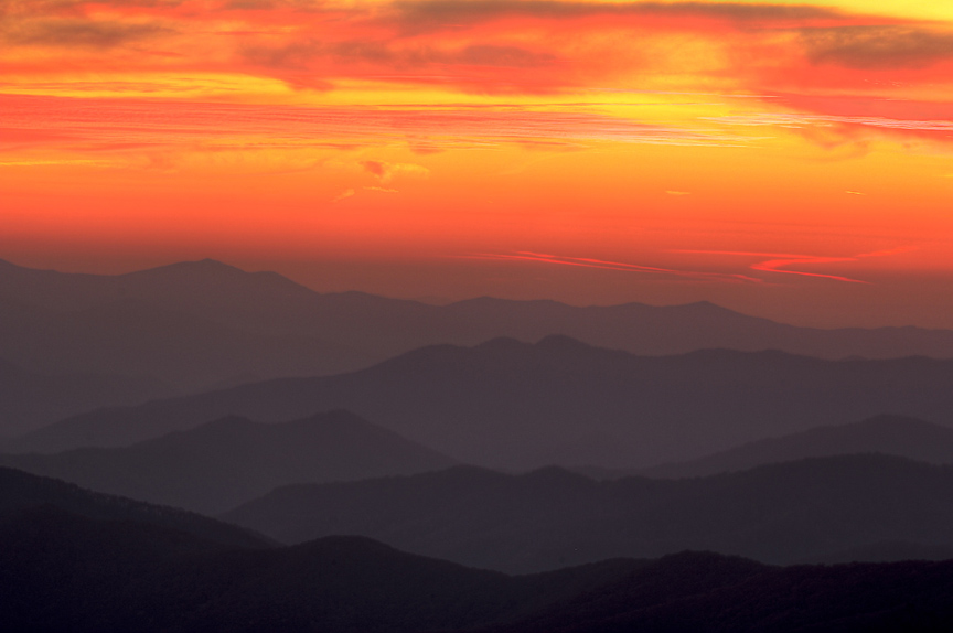 Sunset at Clingmans Dome
