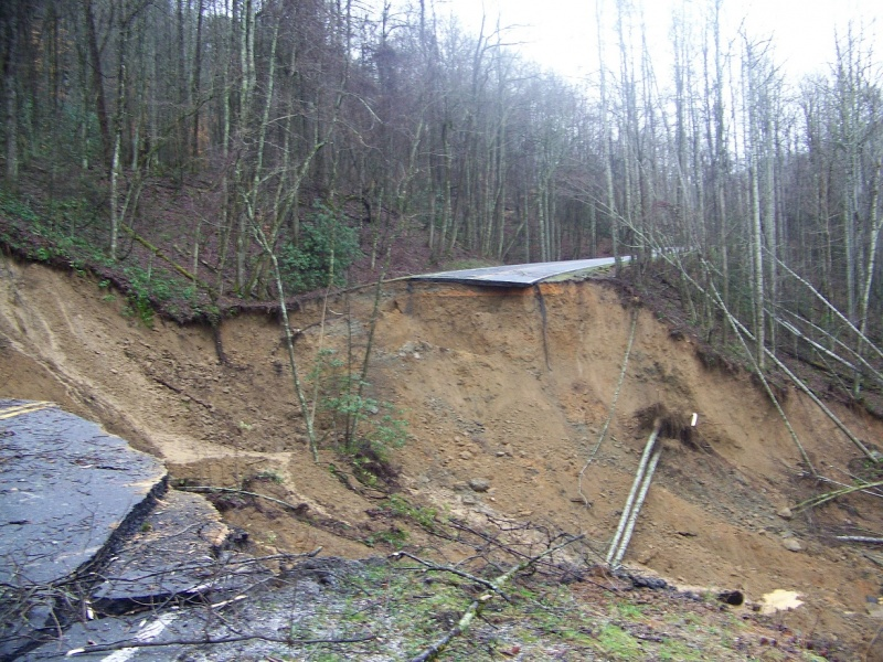 Landslide in the Smoky Mountains