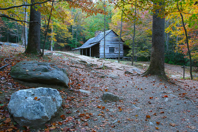 Noah Quot Bud Quot Ogle Cabin Roaring Fork Great Smoky Mountains
